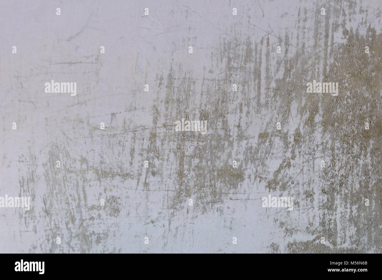 Scratched whitewash wall. - Stock Image