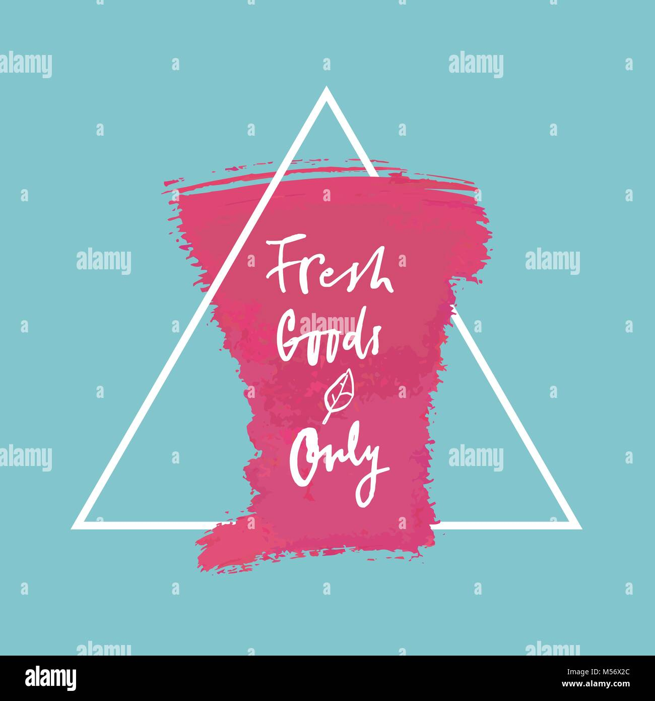 Vector Fresh Goods Only label - Stock Vector