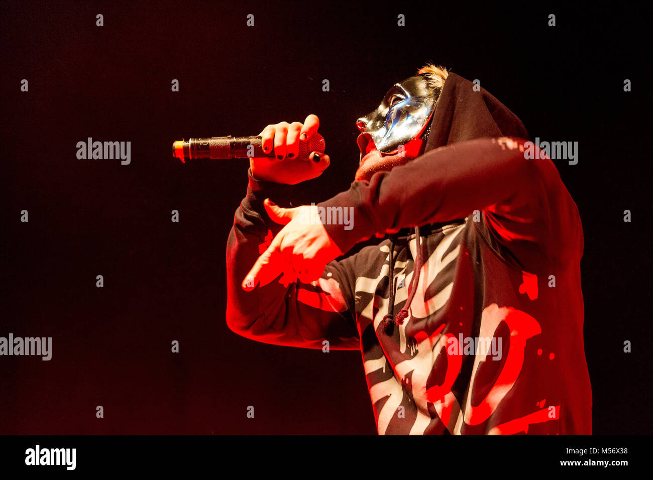 American rap rock band Hollywood Undead Stock Photo