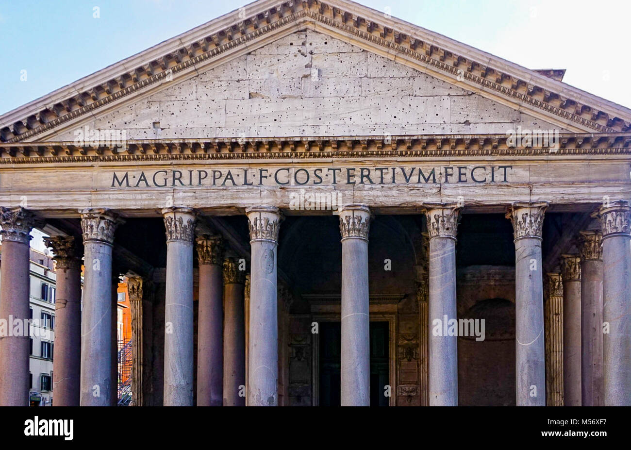 The Exterior of the Pantheon in Rome, Italy Stock Photo