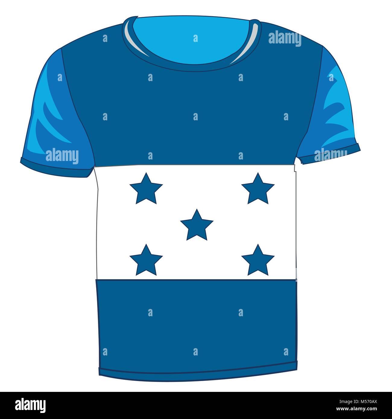 T-shirt flag Honduras Stock Vector