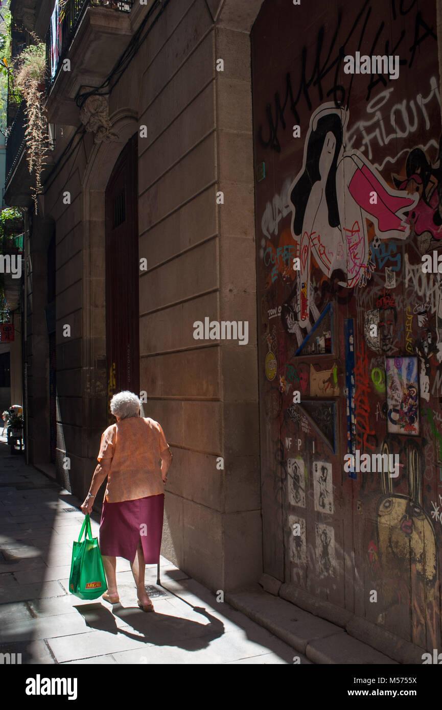 Barcelona, Catalonia. Spain. Ciutat Vella. - Stock Image