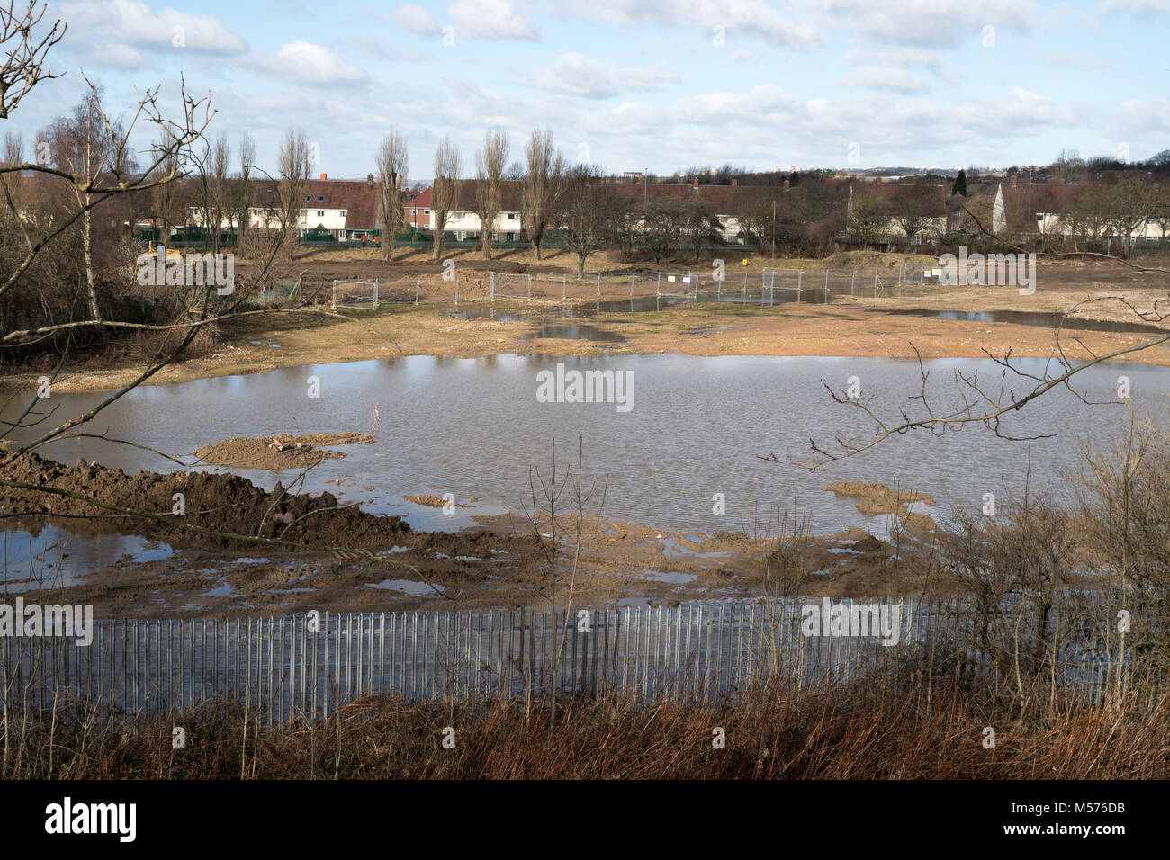 Brownfield construction site being developed for housing on ex BOC factory land in Birtley, north east England, - Stock Image