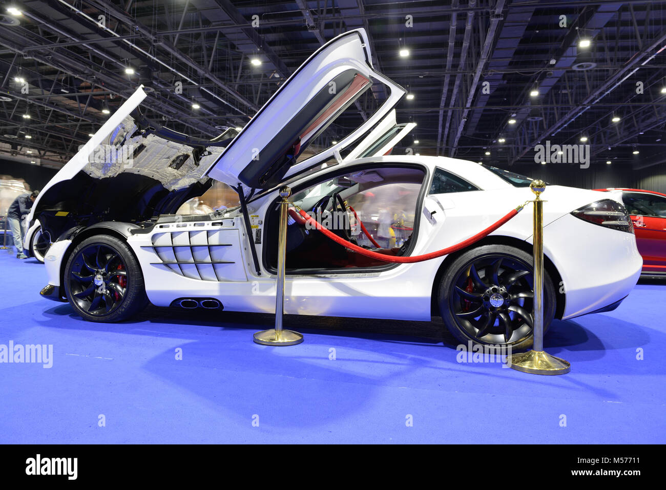 Wonderful DUBAI, UAE   NOVEMBER 18: The Mercedes Benz SLR McLaren Sport Car Is On  Dubai Motor Show 2017 On November 18, 2017