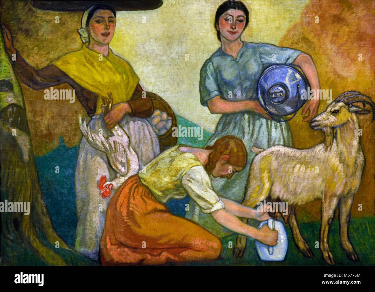 To Market 1913 by  Arteta - Aurelio, 20th, century, Spain, Spanish, Bilbao 1879 Mexico City, 1940 - Stock Image