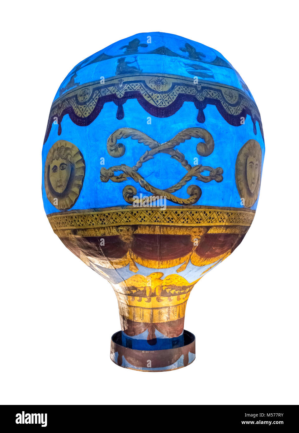 Montgolfier Balloon. A model of the balloon used for the first manned flight in November 1783, Science Museum, London - Stock Image