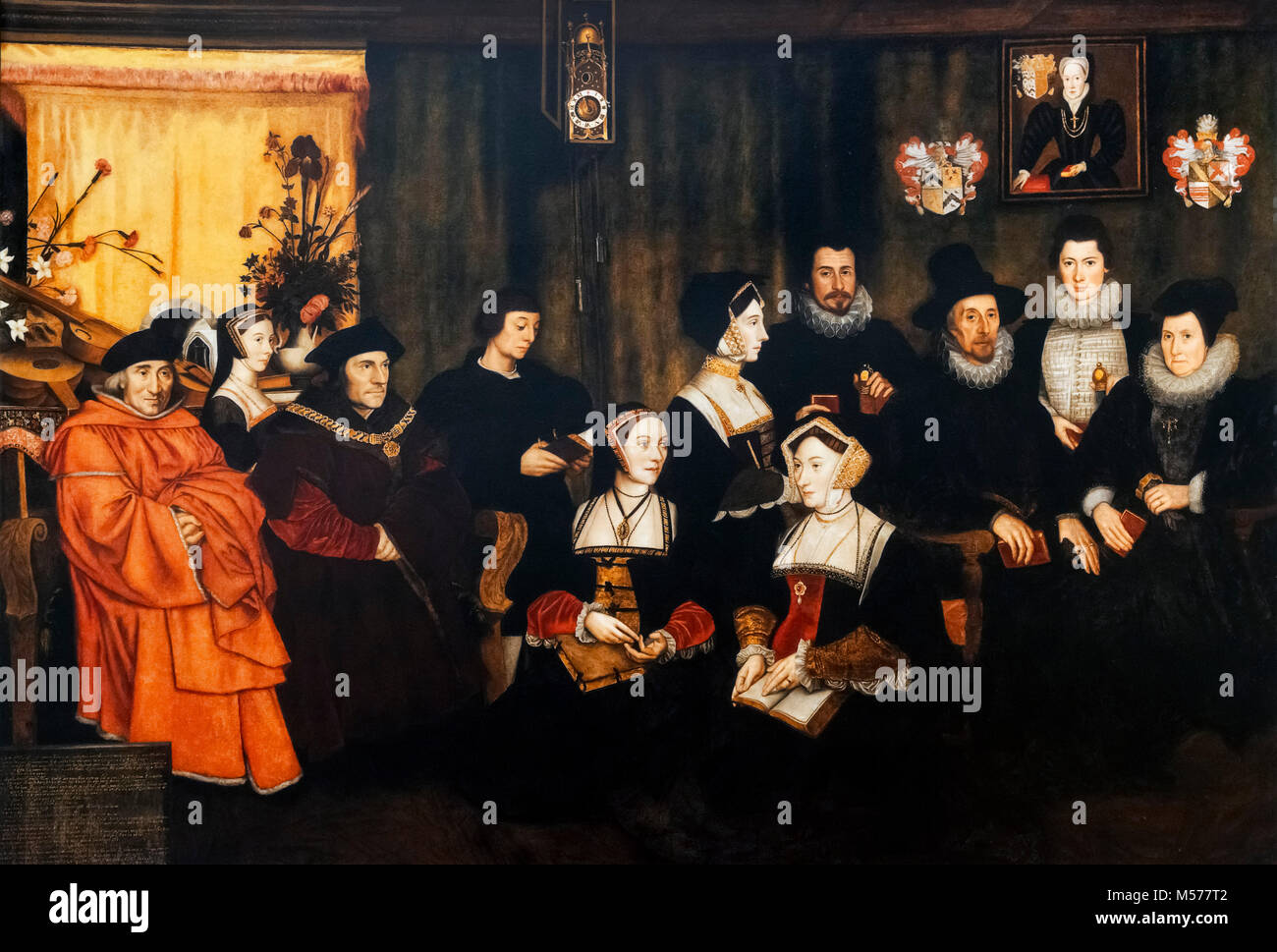 Sir Thomas More and his Family by Rowland Lockey, 1593 - Stock Image
