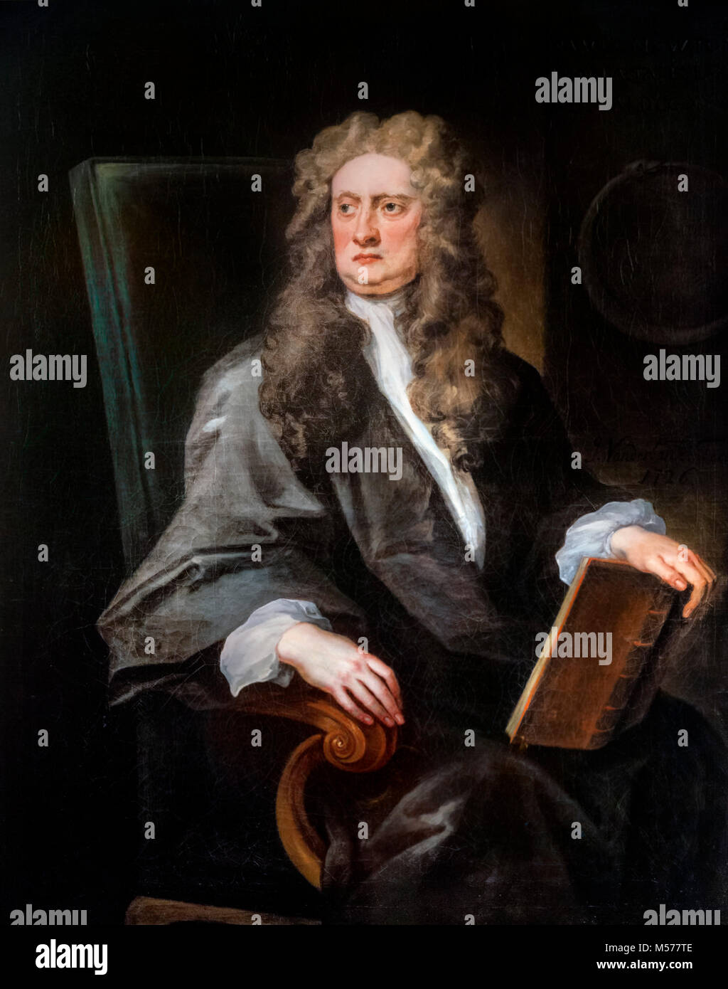 Sir Isaac Newton (1642-1727), portrait of the English physicist and mathematician by John Vanderbank, 1725 - Stock Image