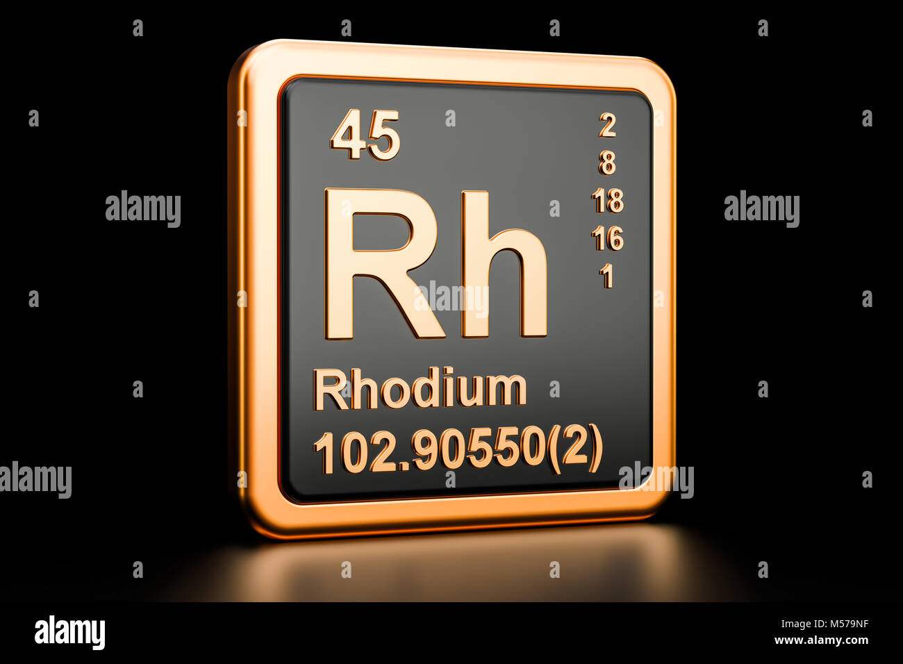 Chemical Symbol Rh Stock Photos Chemical Symbol Rh Stock Images