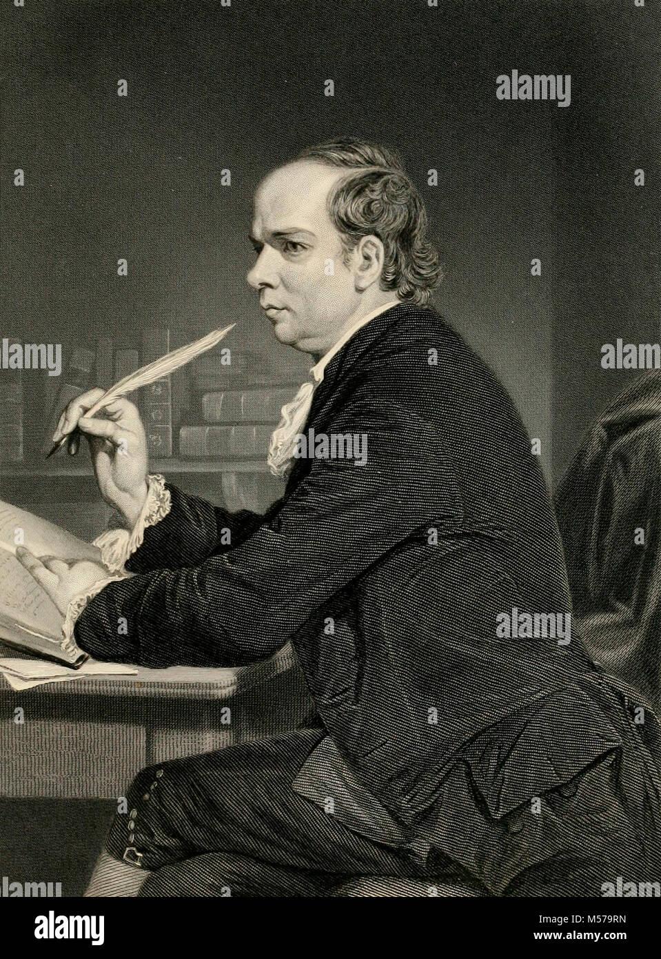 Oliver Goldsmith, Irish novelist, playwright and poet - Stock Image