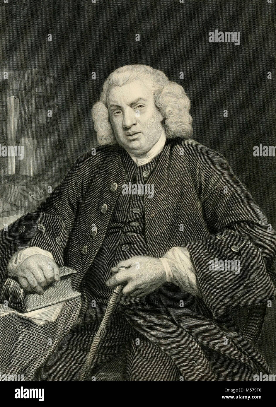 Samuel Johnson - English writer who made lasting contributions to English literature as a poet, essayist, moralist, - Stock Image