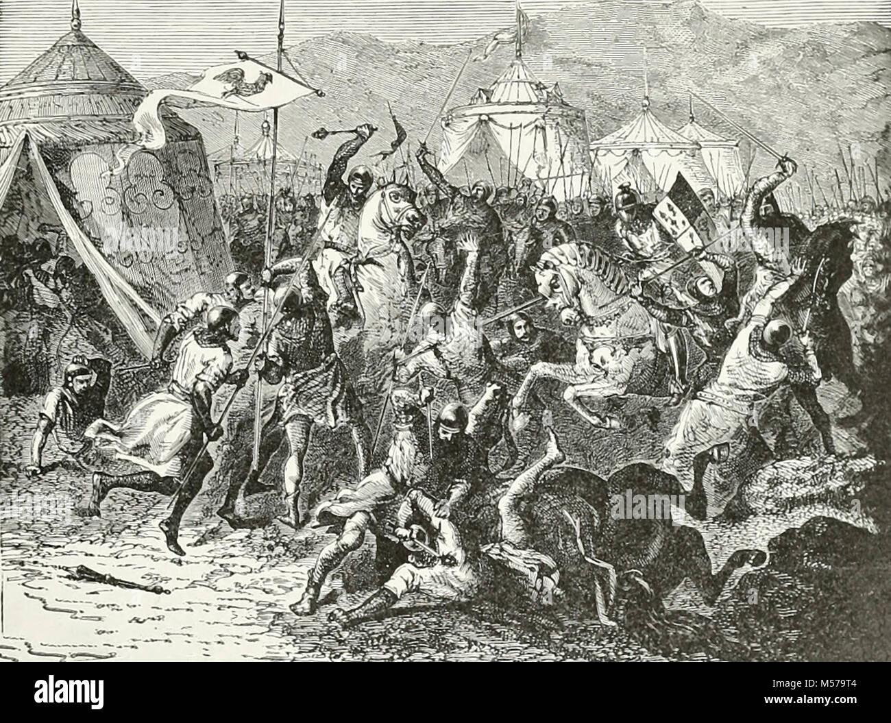 Battle of Montelheri - Stock Image