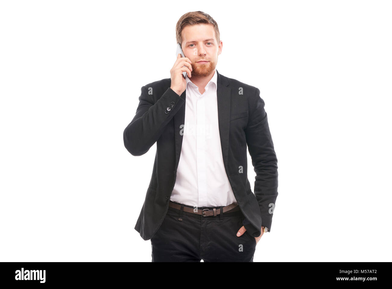 Businessman with mobile phone - Stock Image