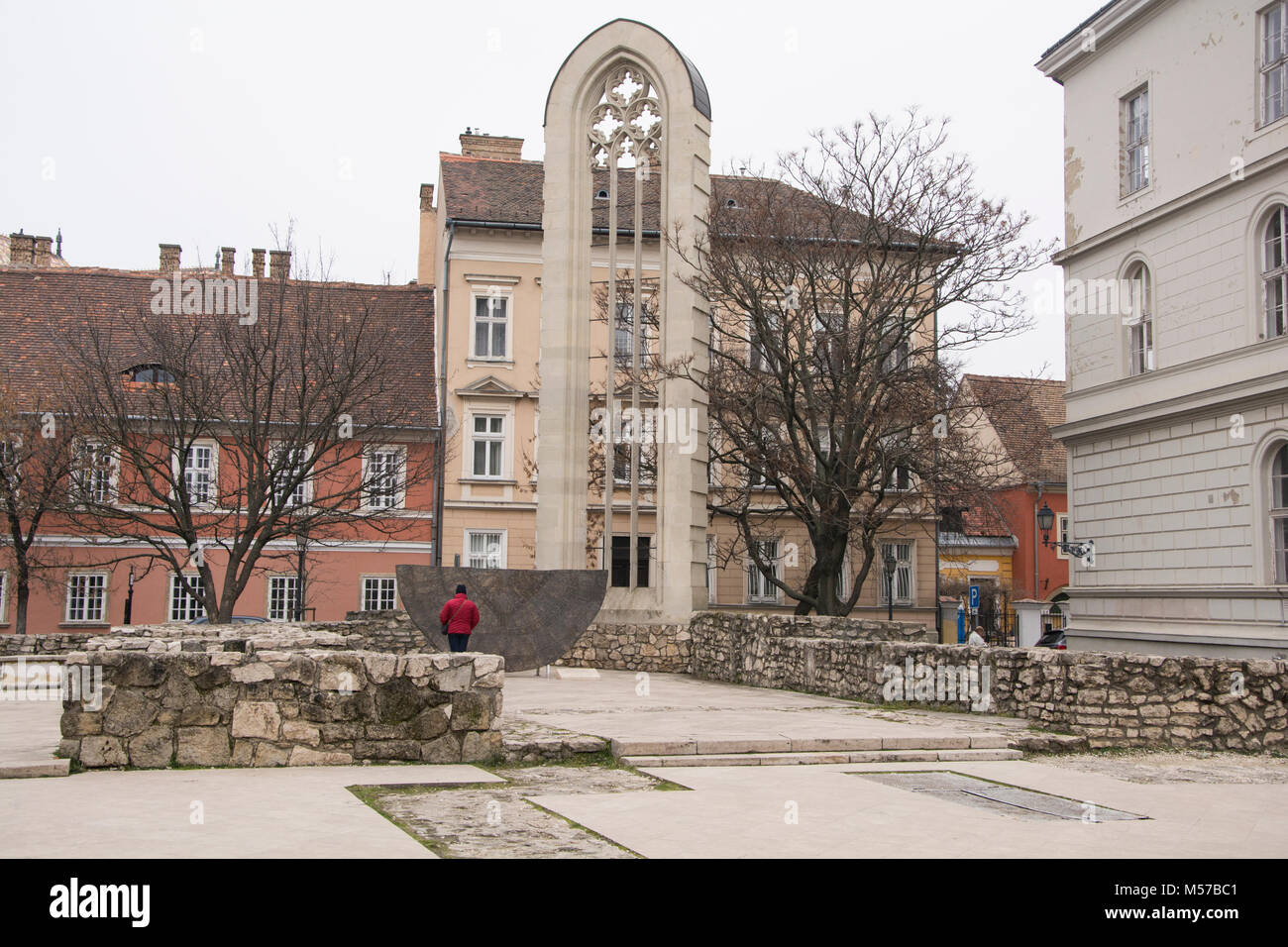 February 6th 2018 - Church Of St Mary Magdelene Budapest Hungary - This Church was built  in the 13th Centuary for - Stock Image