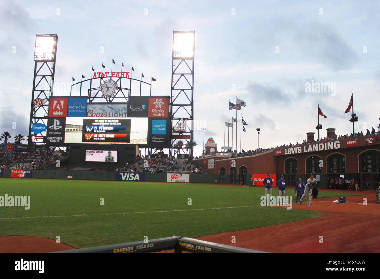At&t Park - Stock Image