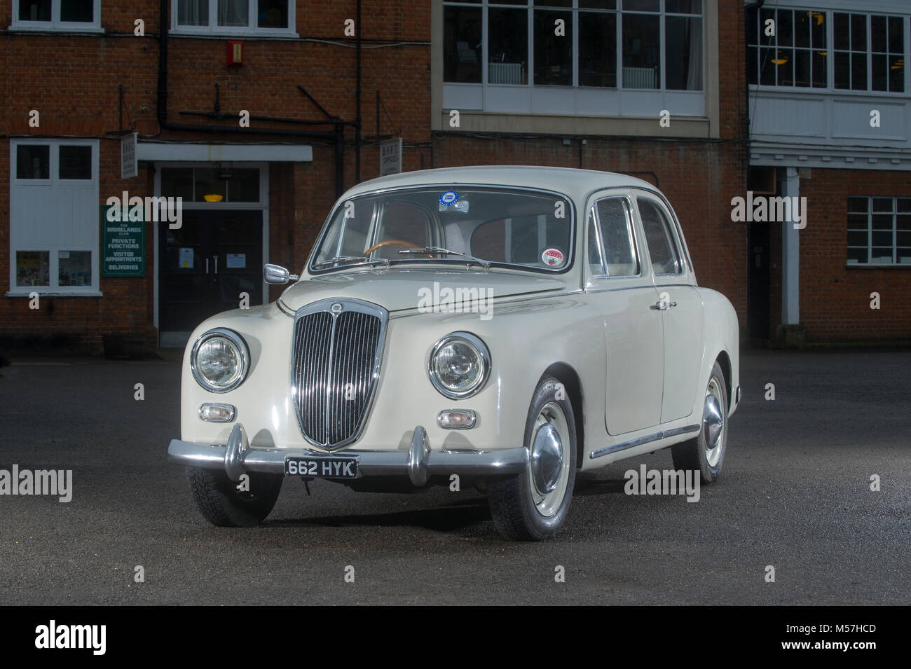 1956 Lancia Appia classic Italian sports saloon, with a monocoque body and suicide doors - Stock Image