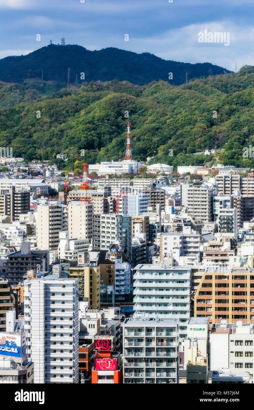 City view,Kobe,Japan - Stock Image