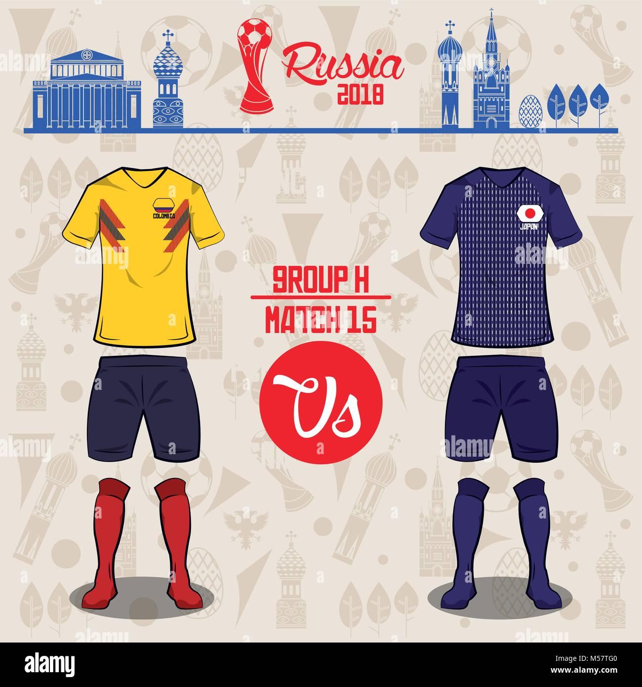 Football world russia 2018 match - Stock Image