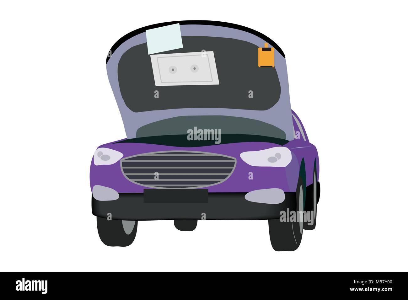 Car Engine Bonnet Illustration Stock Photos & Car Engine Bonnet ...