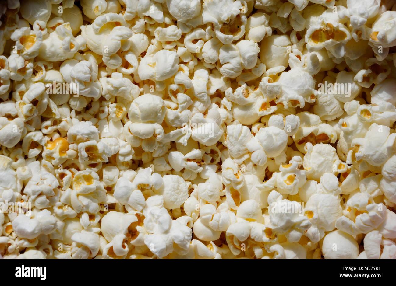 white popcorn Stock Photo