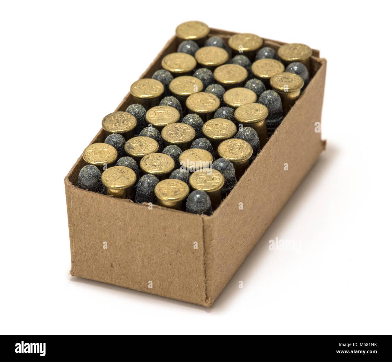 box of 22 lr ammunition stock photo 175353967 alamy