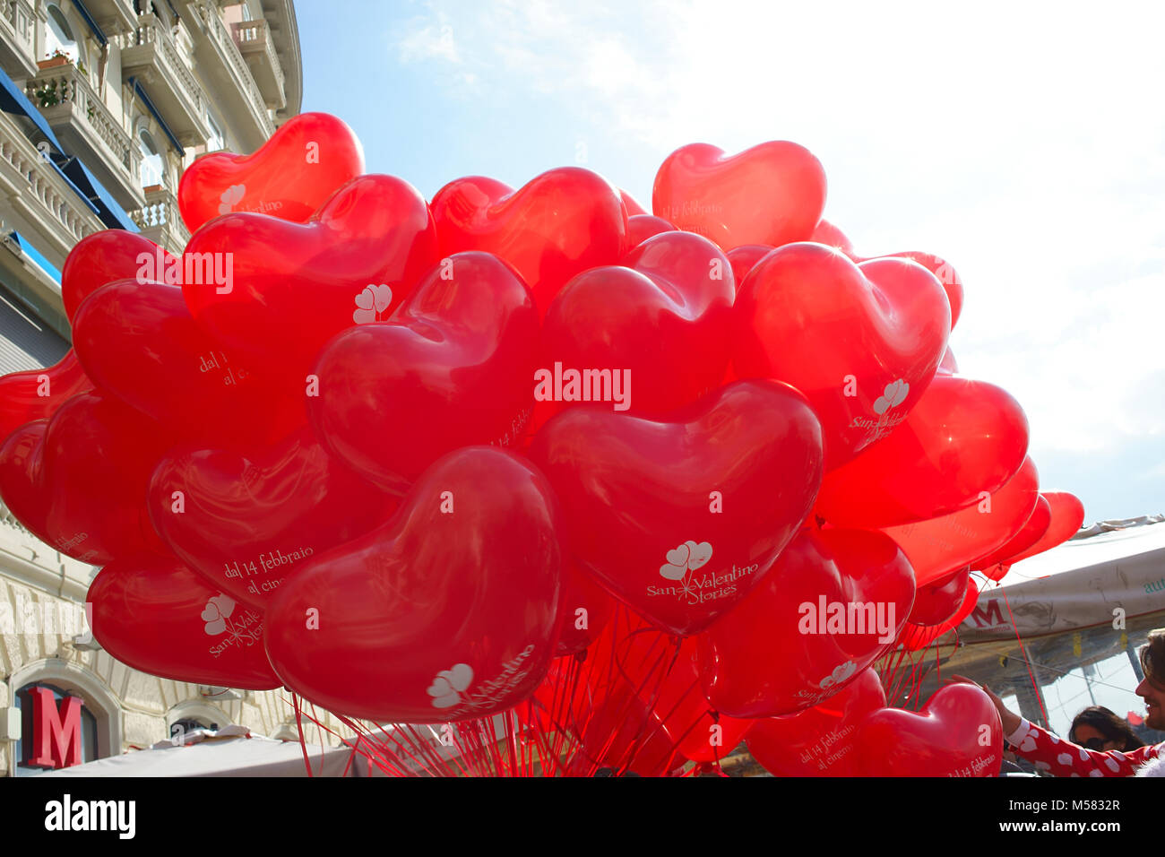 St. Valentine day in Naples, Italy - Stock Image