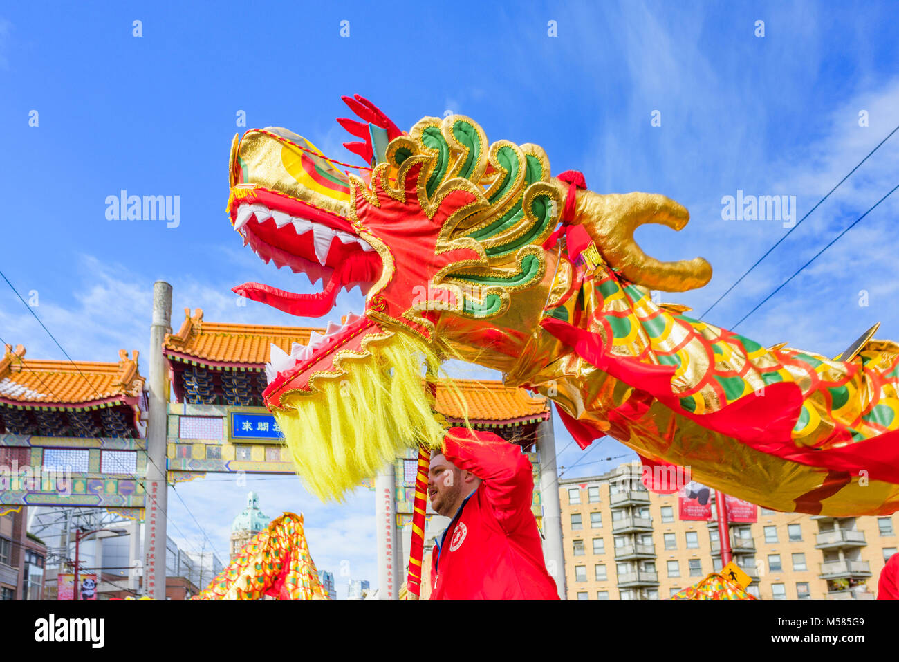 Chinese Lunar New Year Parade, Chinatown, Vancouver, British Columbia, Canada. - Stock Image