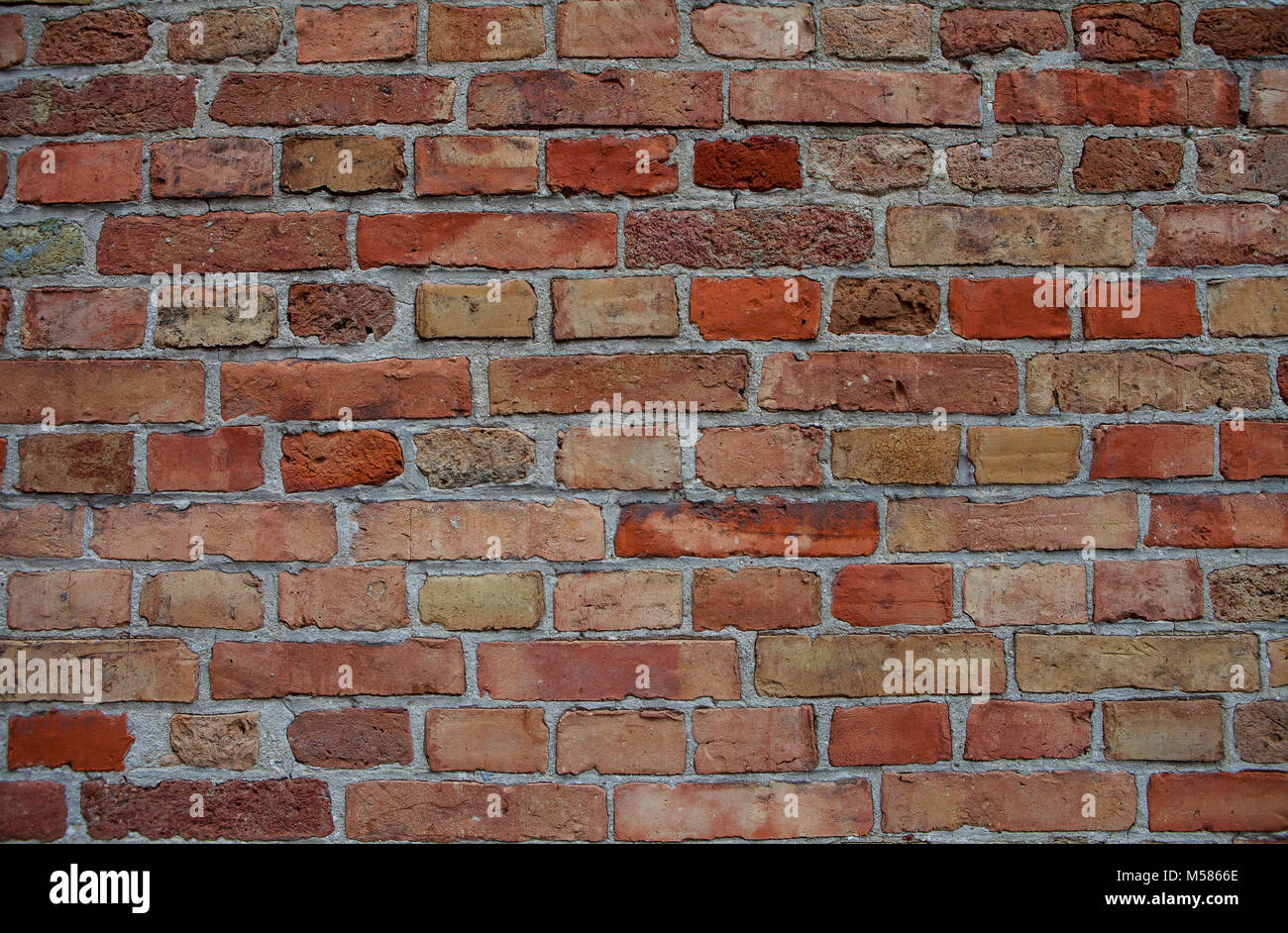 Aged Brick Wall Background Copy Space Top View