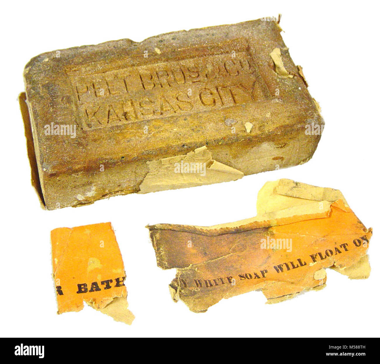Grand Canyon National Park  Miner's Soap. BAR OF SOAP SHAPED LIKE A BRICK WITH STAMPED INFORMATION ON EACH SIDE. - Stock Image
