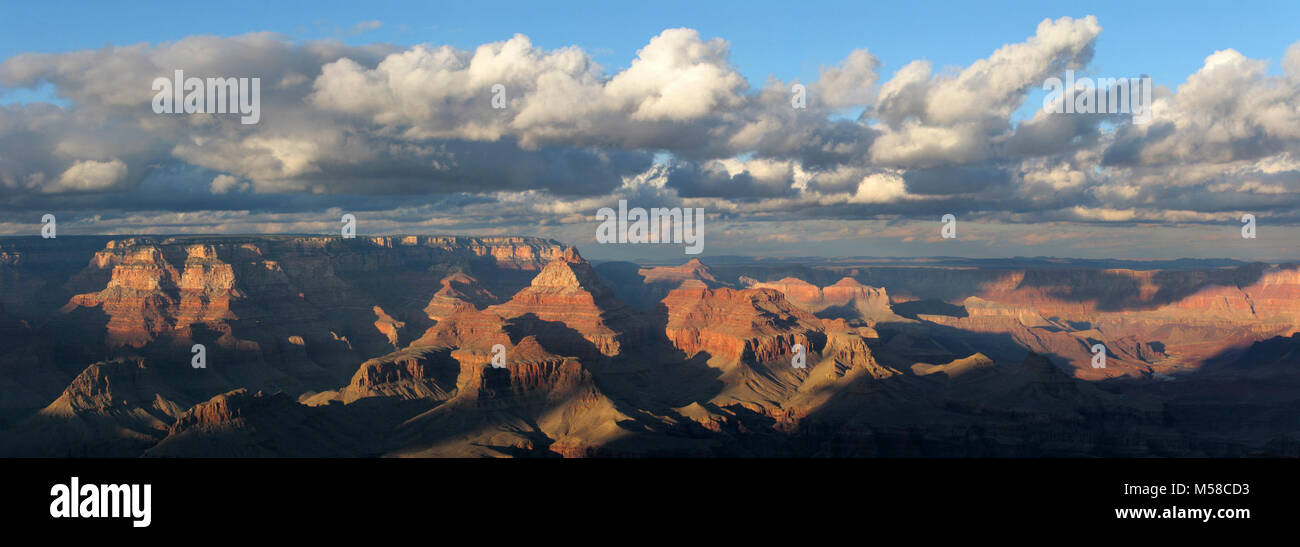 Grand Canyon National Park View From Grandview Point . (8466 x 2982) Elevation: 7399 feet / 2256 meters. This popular - Stock Image