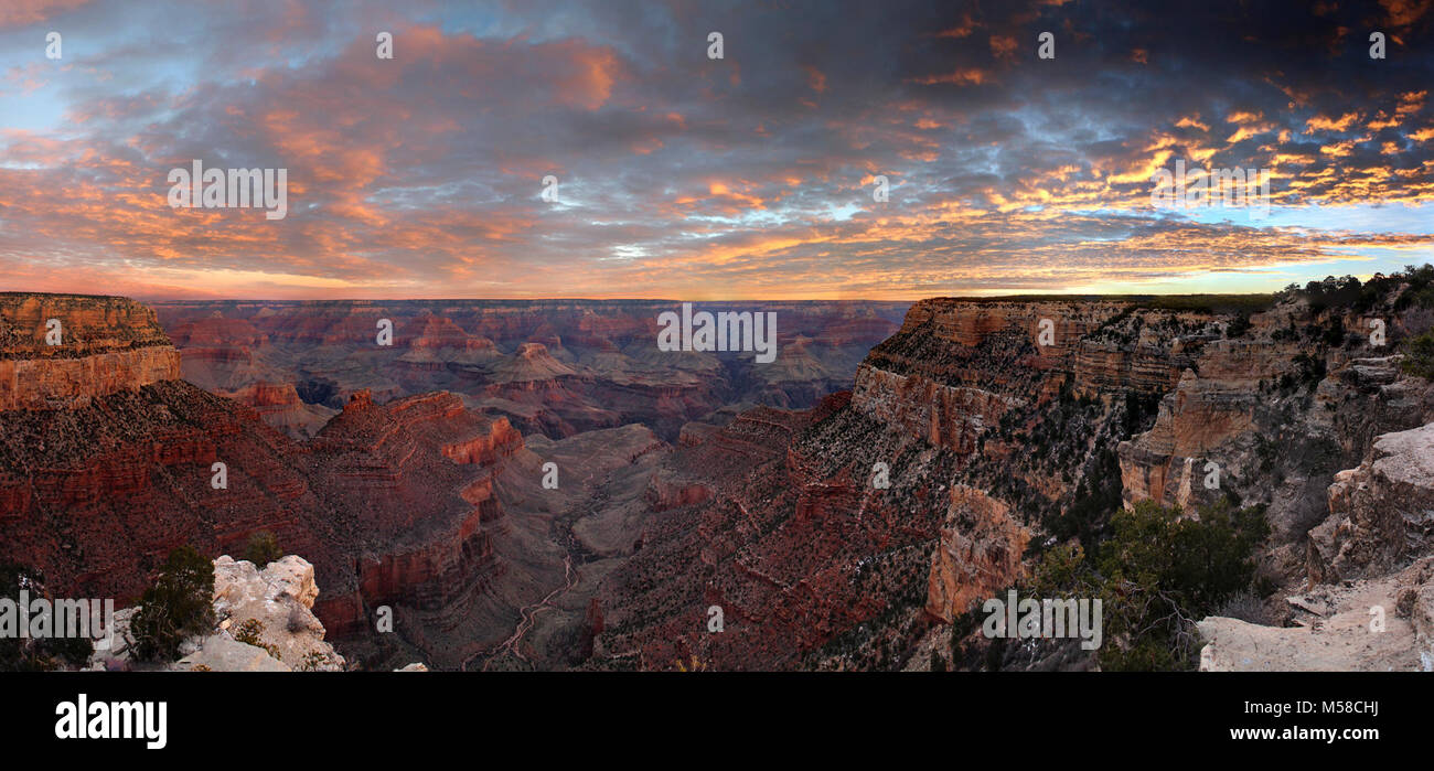 Grand Canyon National Park Winter Sunrise From Historic