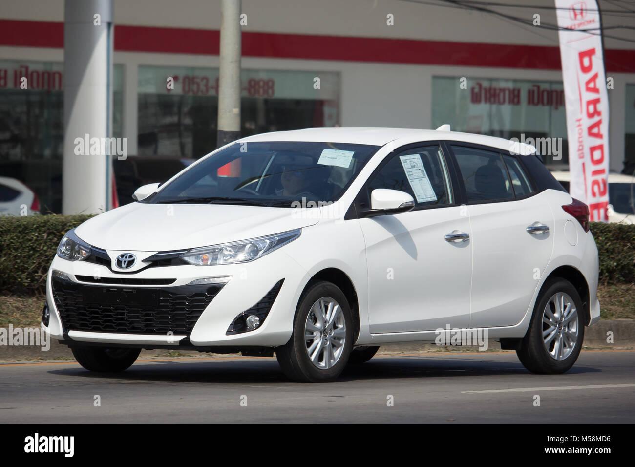 Chiang Mai Thailand January 19 2018 New Private Car Toyota Yaris