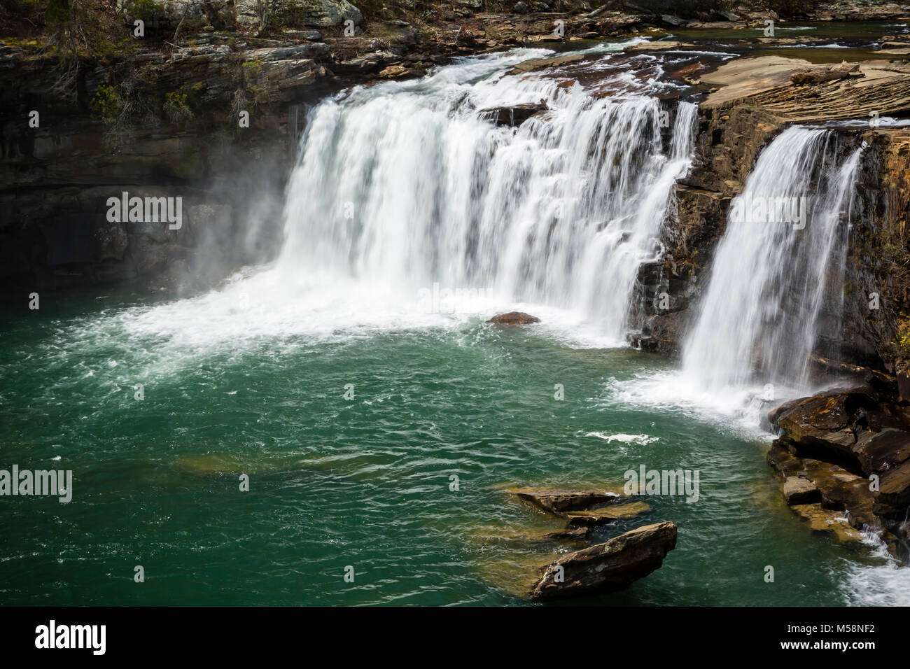 Little River Falls in Little River Canyon National Preserve, Alabama Stock Photo