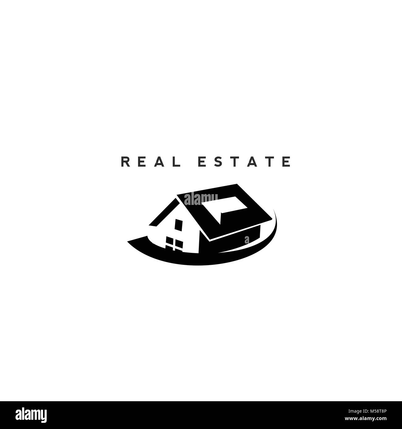 Real Estate icons with White Background - Stock Vector