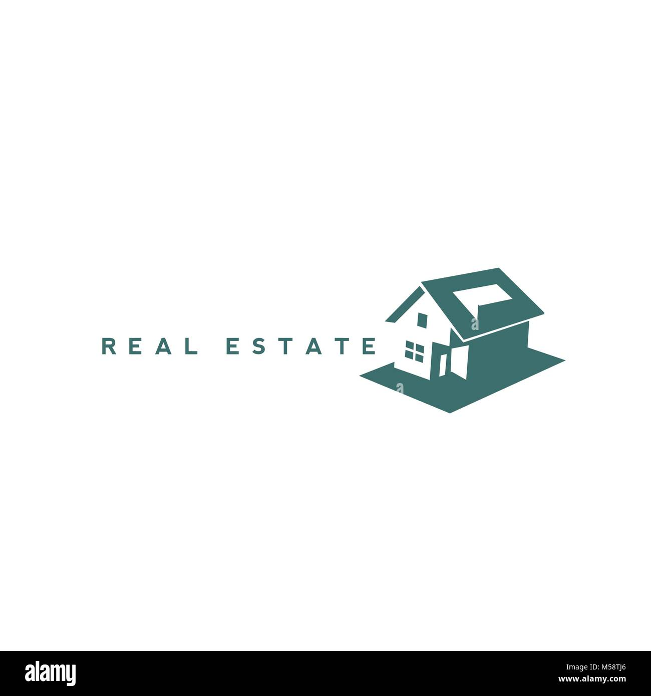 creative Real Estate Logo Design - Stock Vector
