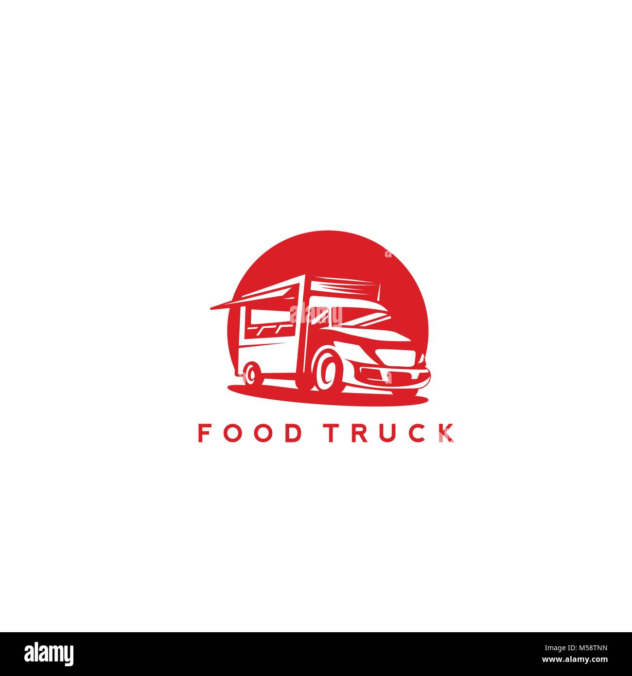 Red food truck vector illustration - Stock Vector