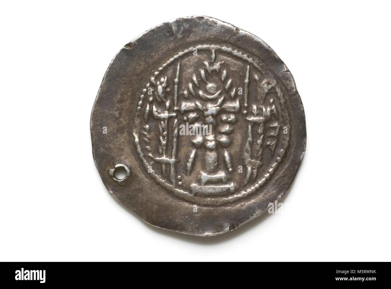 Sasanian Coin Varhan V - Stock Image