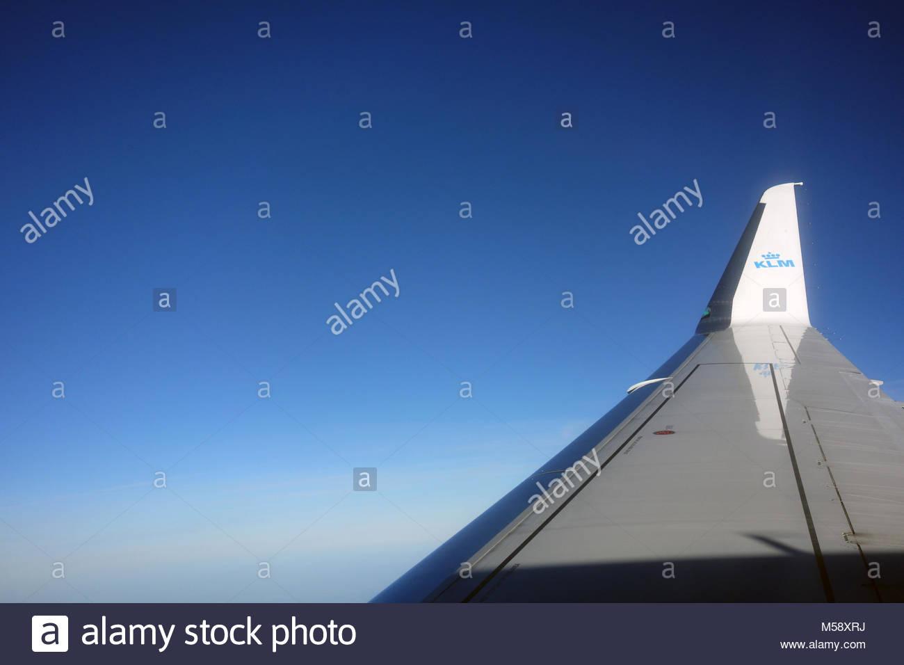 KLM Cityhopper Embraer ERJ-175STD winglet. - Stock Image