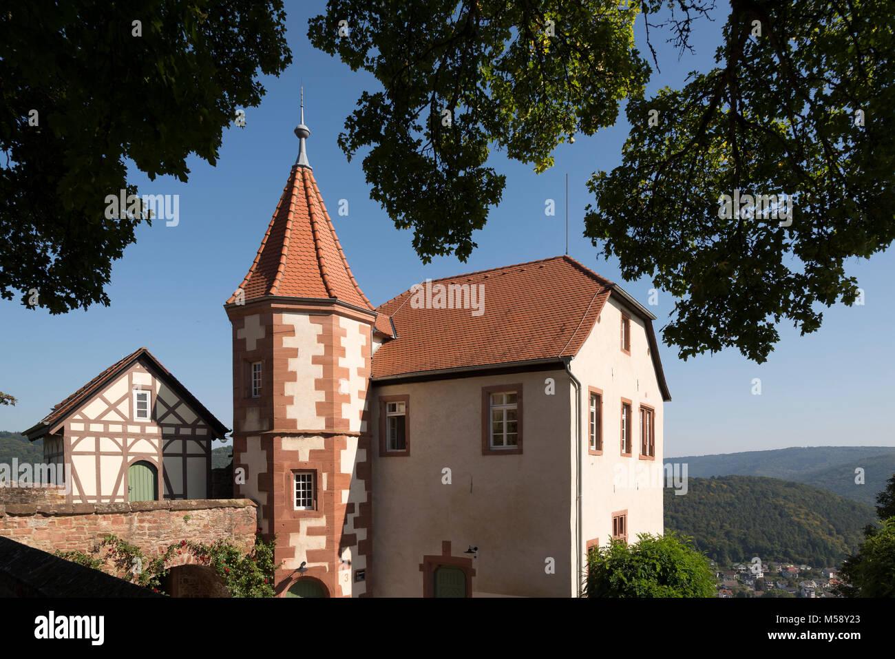 Bergfeste Dilsberg, Neckargemünd, Baden-Württemberg, Deutschland, Europa - Stock Image