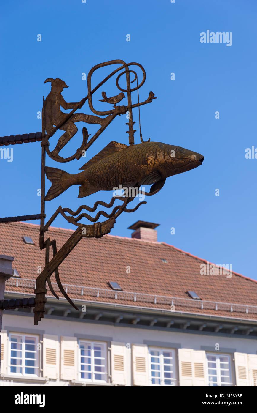 Eberbach, Neckar, Baden-Württemberg, Deutschland - Stock Image