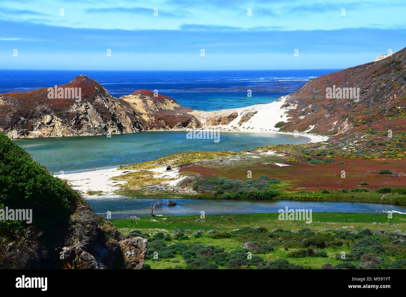 Little Sur River on the Big Sur coast of California - Stock Image