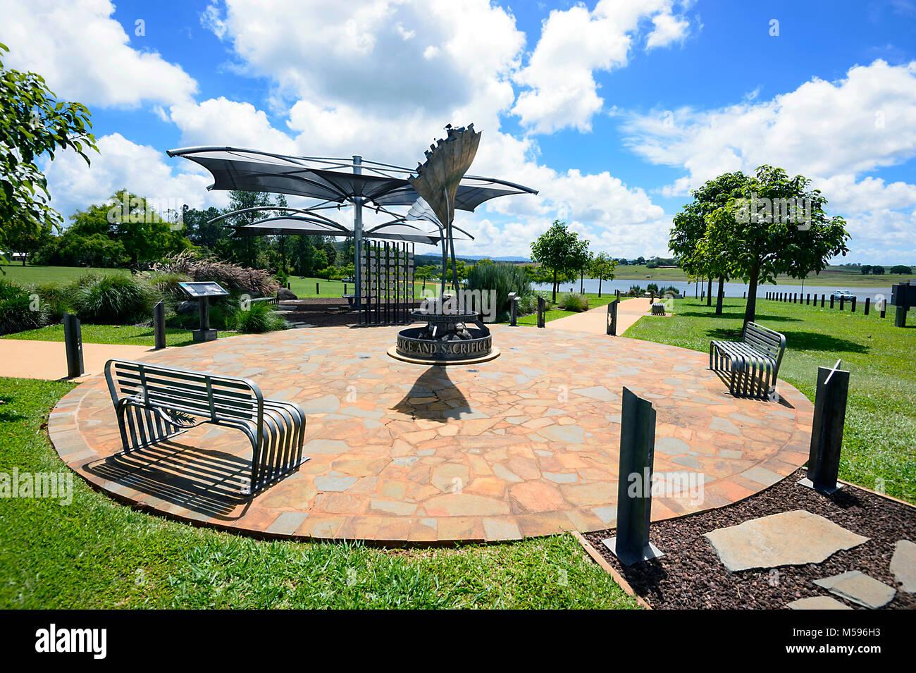 Afghanistan war memorial, Avenue of Honour, Yungaburra, Atherton Tablelands, Far North Queensland, FNQ, QLD, Australia - Stock Image