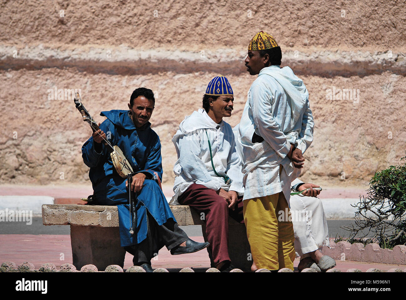 Relaxing time, Morocco - Stock Image
