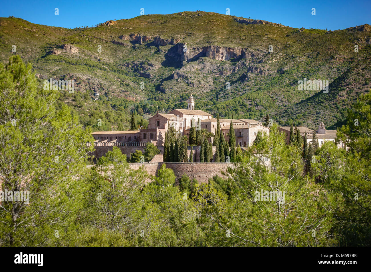 Close-up of Cartuja de Portaceli monastery - Stock Image