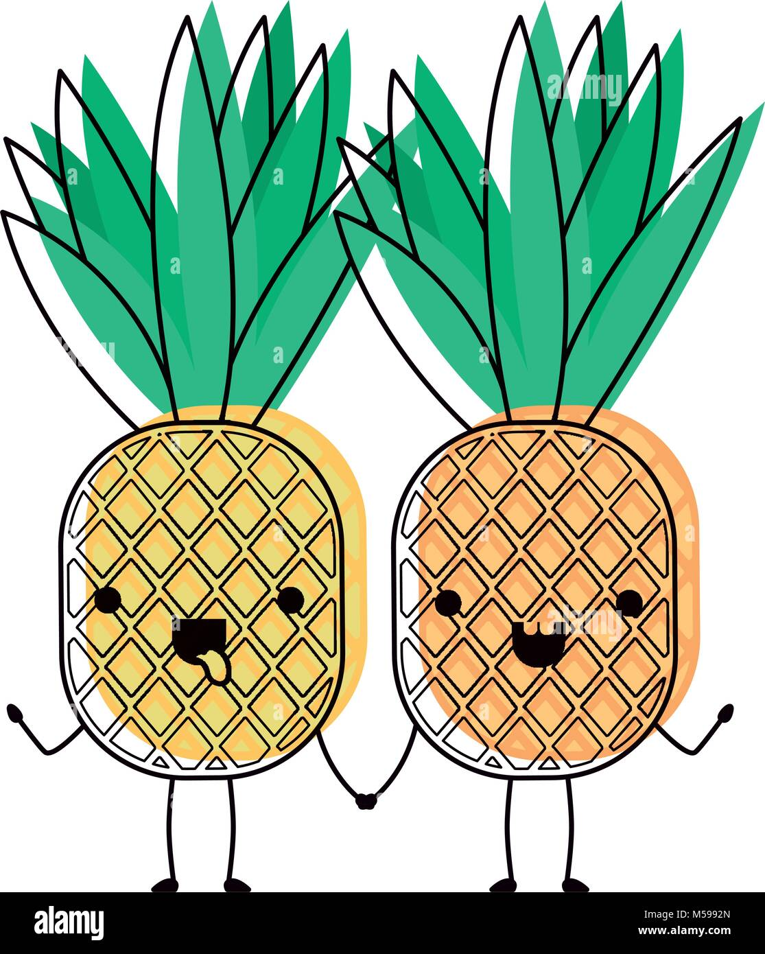 Cartoon Pineapple Cut Out Stock Images Pictures Page 3