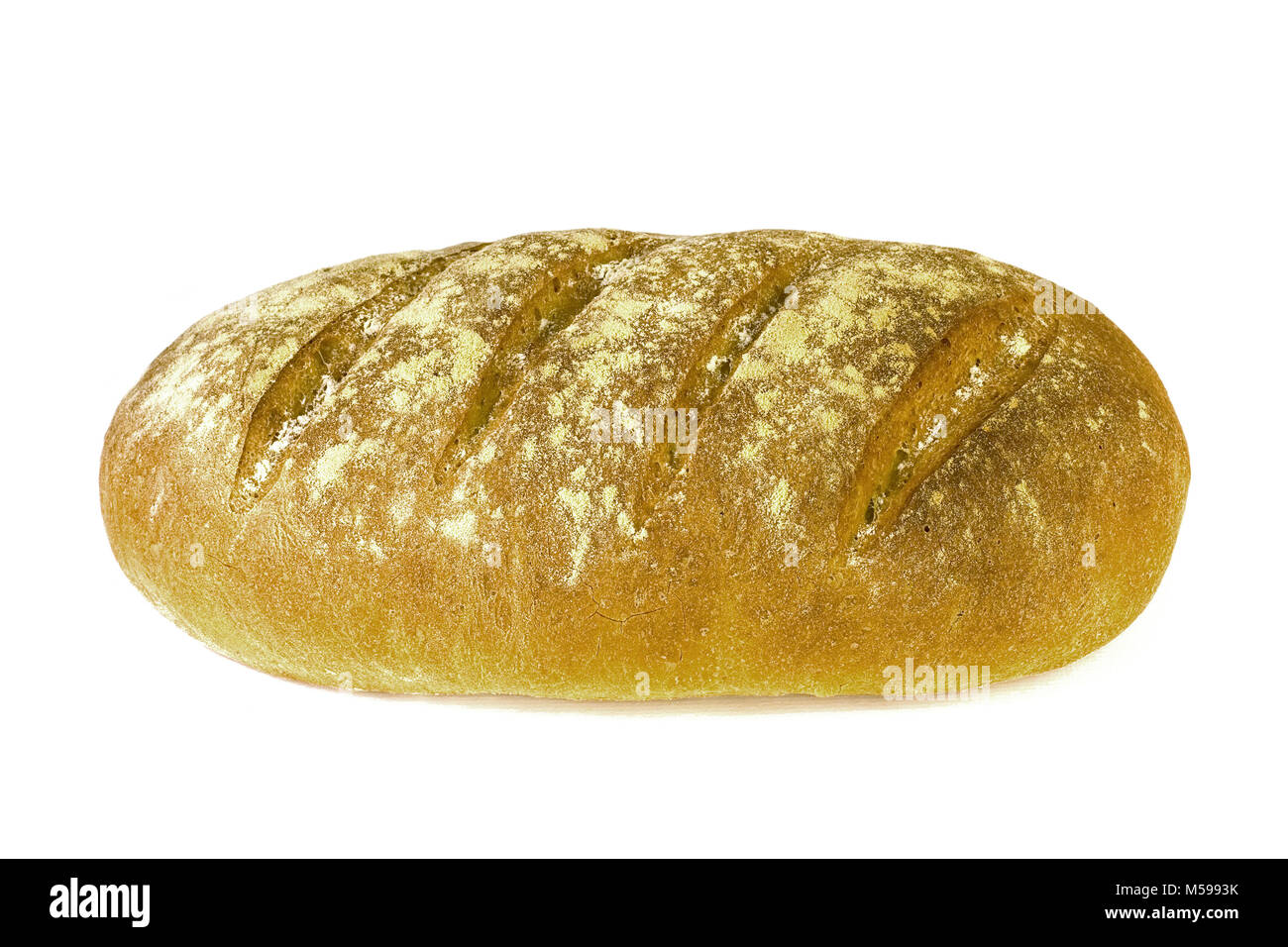 homebaked fresh crusty bloomer - Stock Image