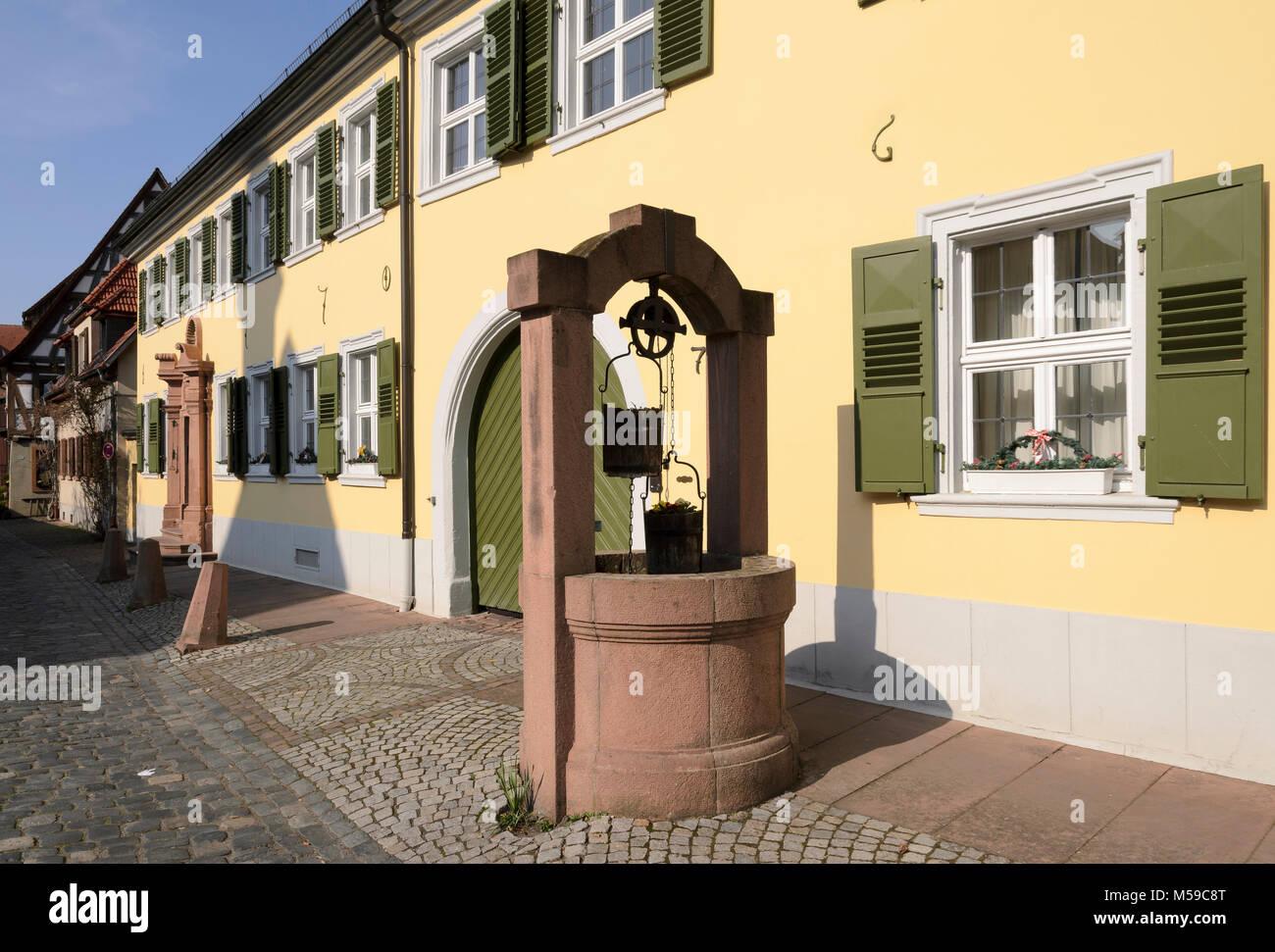 Ladenburg, Baden-Württemberg, Deutschland - Stock Image