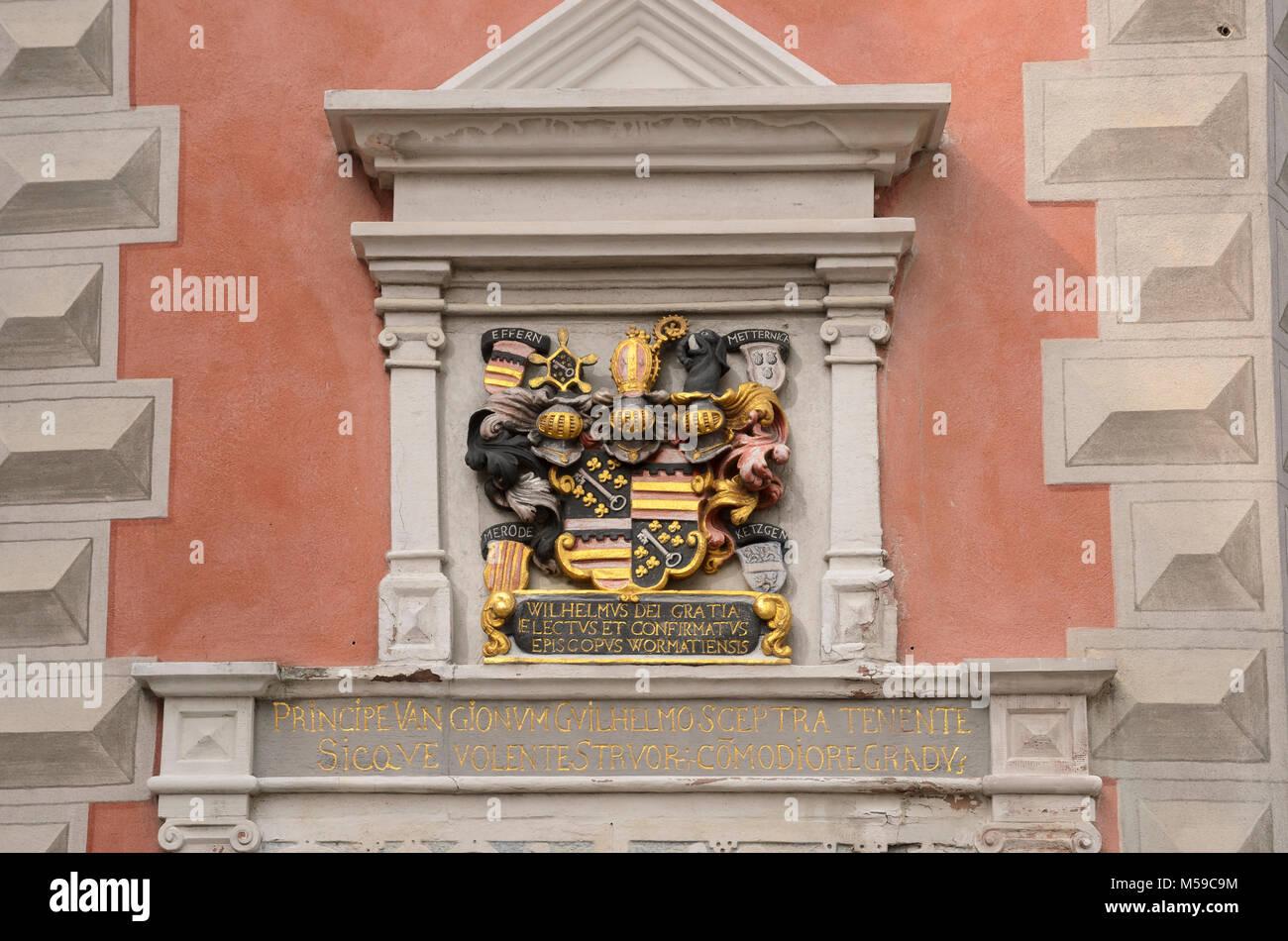 Bischofshof, Ladenburg, Baden-Württemberg, Deutschland - Stock Image