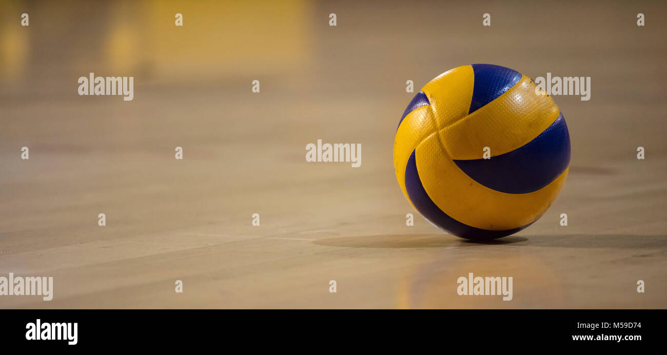 Background Abstract Sport Volleyball Blue Yellow Ball: Volleyball Court Stock Photos & Volleyball Court Stock