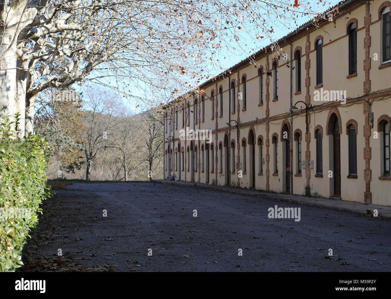 Spain, Catalonia, Puig-Reig. Can Vidal. Textile Industrial colony. 1901-1980. Housing of the workers. - Stock Image